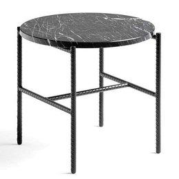 HAY Rebar bijzettafel soft zwart staal - zwart marmer top