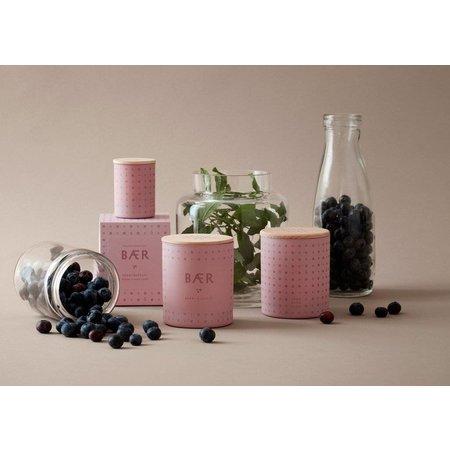 SKANDINAVISK BAER (berry) -  pink purple glass  CANDLE