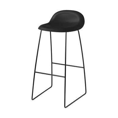 GUBI 3D BARSTOOL SLED BASE, BLACK