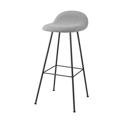 GUBI 3D BARSTOOL UPHOLSTERED, TUBE BASE