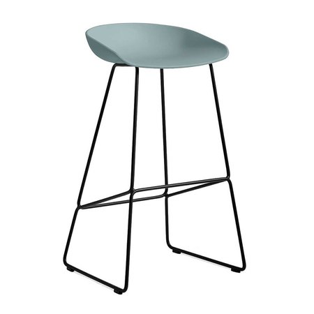 HAY AAS38 BAR STOOL BLACK STEEL 74 CM.