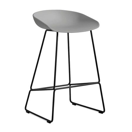 HAY AAS 38 BAR STOOL BLACK STEEL 64 CM.