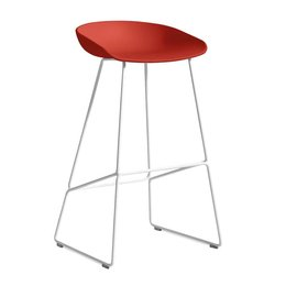 HAY AAS 38 BAR STOOL WHITE STEEL 74 CM.