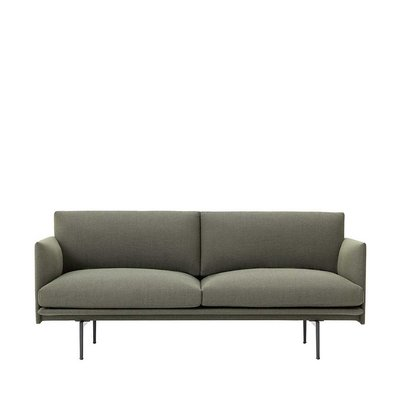 MUUTO OUTLINE SOFA 2 SEATER - BLACK BASE