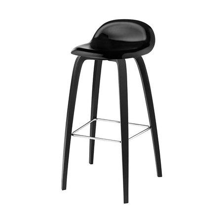 GUBI 3D BAR STOOL BLACK BEECH 65
