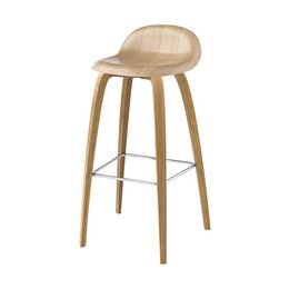 GUBI 3D BAR STOOL OAK 65