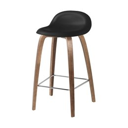 GUBI 3D BAR STOOL WALNUT 65