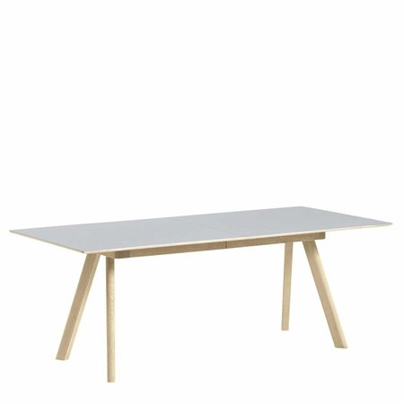 HAY CPH30 DINING TABLE EXTENDED SOAP OAK