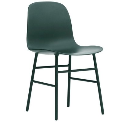 NORMANN COPENHAGEN FORM CHAIR STEEL, LACQUERED STEEL