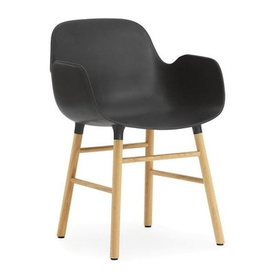 NORMANN COPENHAGEN FORM ARMCHAIR, OAK BASE