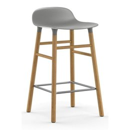 NORMANN COPENHAGEN FORM BARSTOOL 65, OAK BASE