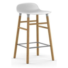 NORMANN COPENHAGEN FORM BARSTOOL 65 CM. OAK WOOD BASE
