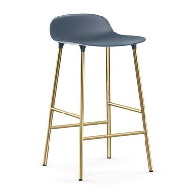 NORMANN COPENHAGEN FORM BARSTOOL 65 STEEL, BRASS BASE