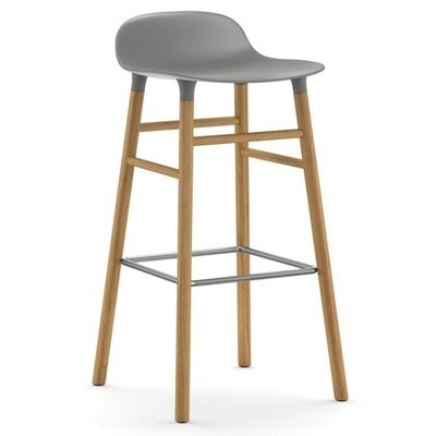 NORMANN COPENHAGEN FORM BARSTOOL 75, OAK BASE