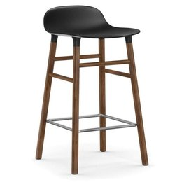 NORMANN COPENHAGEN FORM BARSTOOL 65 WOOD, WALNUT BASE