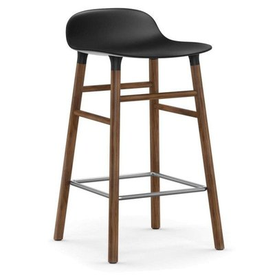 NORMANN COPENHAGEN FORM BARSTOOL 65, WALNUT BASE