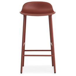 NORMANN COPENHAGEN FORM BARSTOOL 75, STEEL BASE