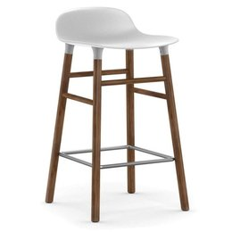 NORMANN COPENHAGEN FORM BARSTOOL 75 WOOD, WALNUT BASE