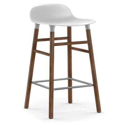 NORMANN COPENHAGEN FORM BARSTOOL 75, WALNUT BASE