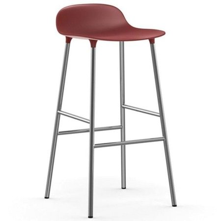 NORMANN COPENHAGEN FORM BARSTOOL 65, CHROMED BASE