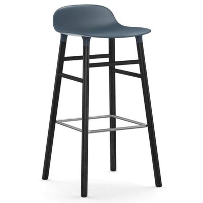 NORMANN COPENHAGEN FORM BARSTOOL 75, BLACK BASE