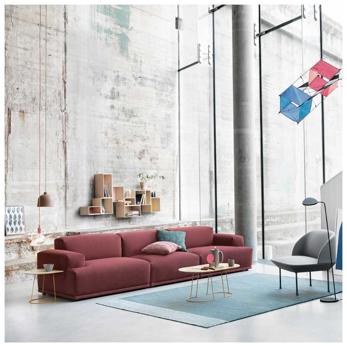 Zweeds Design Bank.Connect Sofa 3 Seater No Arm Right Nordic New
