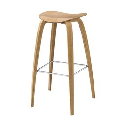 GUBI 2D BAR STOOL, WOOD BASE