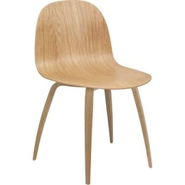 GUBI 2D CHAIR,  WOOD BASE