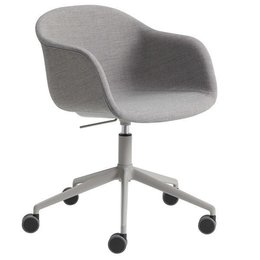 MUUTO Fiber armchair with swivel and gas lift