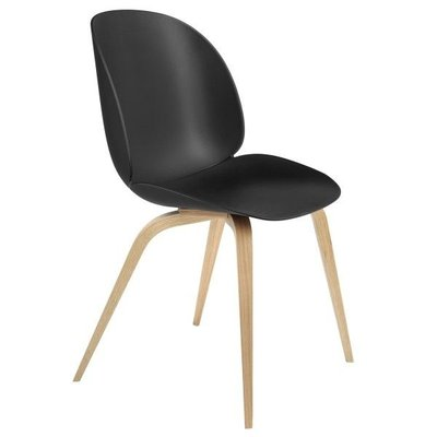 GUBI BEETLE CHAIR, OAK WOOD BASE