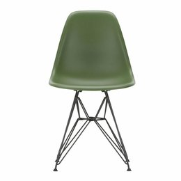 VITRA PLASTIC CHAIR DSR, BASIS ZWART