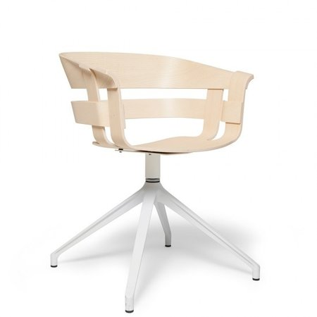 DESIGN HOUSE STOCKHOLM WICK CHAIR OAK WOOD SWIVEL BASE GREY