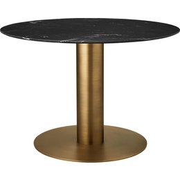 GUBI ROUND 2.0 DINING TABLE  Ø 150 - ANTIQUE BRASS BASE