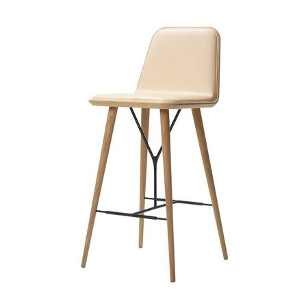 FREDERICIA  SPINE METAL BASE STOOL