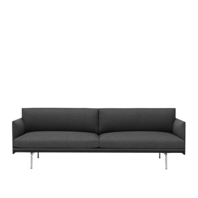 MUUTO OUTLINE SOFA 3 SEATER, ALUMINIUM BASE