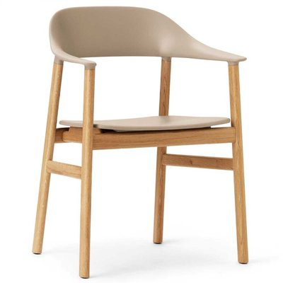 NORMANN COPENHAGEN HERIT ARMCHAIR, OAK BASE