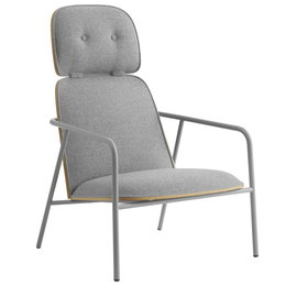 NORMANN COPENHAGEN PAD LOUNGE CHAIR HIGH BACK