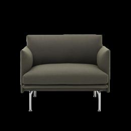 MUUTO Outline fauteuil - voet aluminium