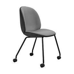 GUBI BEETLE  CHAIR FULLY UP, WITH CASTORS
