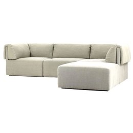 GUBI WONDER SOFA 3 ZITS BANK + POEF