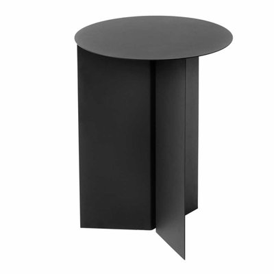 HAY SLIT SIDE TABLE ROUND, HIGH