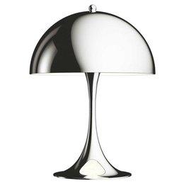 LOUIS POULSEN PANTHELLA MINI TABLE LAMP, CHROMED 33,5 CM.