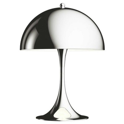 LOUIS POULSEN PANTHELLA MINI TABLE LAMP, CHROMED 33,5 CM.