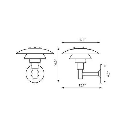 LOUIS POULSEN PH 3-2 1/2  WALL LAMP