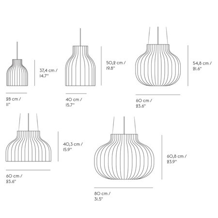 MUUTO STRAND PENDANT LAMP CLOSED