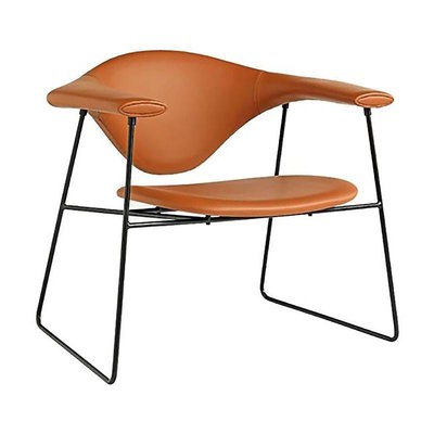 GUBI Masculo lounge chair - leather upholstery
