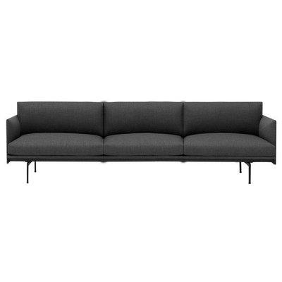 MUUTO OUTLINE  3,5  SEATER - BLACK BASE