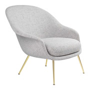 GUBI BAT LOUNGE CHAIR, LOW BACK & BRASS
