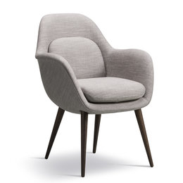 FREDERICIA  SWOON CHAIR - WOOD BASE
