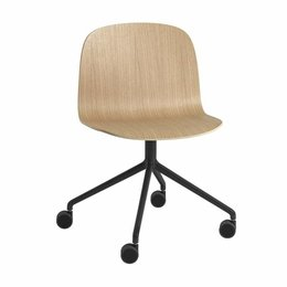 MUUTO Visu Wide swivel chair with castors